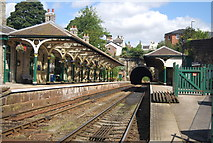SE3457 : Harrogate line, Knaresborough Station by N Chadwick