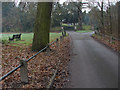 Dist:0.2km<br/>The access road to Laleham Abbey, once belonging to the Lords Lucan, now an upmarket appartment block.