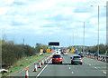 SP9438 : Roadworks on M1 near Hulcote by JThomas