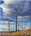 NN9707 : Wind turbines on Rowantree Craig by William Starkey