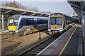J5081 : Trains, Bangor Railway Station by Rossographer