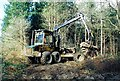 TF0721 : Forestry operations in Bourne Wood, Lincolnshire by Rex Needle