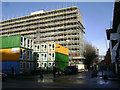 TQ3278 : The Art Works Elephant fronting the Heygate Estate, Walworth Road by Robin Stott