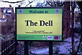 SP3166 : The Dell sign, Warwick Terrace, Royal Leamington Spa by P L Chadwick