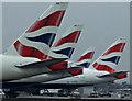 TQ0675 : BA tailfins at Heathrow : Week 7
