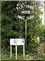 TM1576 : Hall Farm & Pecks Farmhouse sign by Adrian Cable