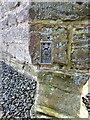 SJ6406 : OS flush bracket - Little Wenlock church by Richard Law