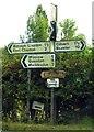 SP7125 : Signposts opposite Catherine Farm by Steve Daniels