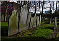 SK5804 : Gravestones at the Church of St Mary de Castro by Mat Fascione