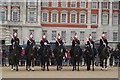 TQ3080 : View of the Queen's Guards preparing for the Changing of the Guard : Week 11