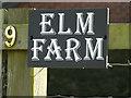 TM2382 : Elm Farm sign by Adrian Cable