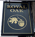 SK6266 : Sign for the Royal Oak pub, Edwinstowe by JThomas