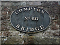 SO8898 : Canal bridge nameplate at Compton, Wolverhampton by Roger  Kidd