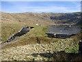 SN7987 : Dam and spillway, Llyn Llygad Rheidol by Rudi Winter