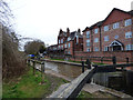 SJ7066 : Trent and Mersey Canal:  Middlewich Big Lock by Dr Neil Clifton