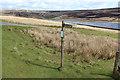 SD9533 : Fingerpost by Walshaw Dean Lower Reservoir by Chris Heaton