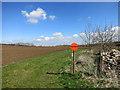 SP7312 : Big Round Footpath Sign by Des Blenkinsopp