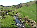 SE0733 : The valley of Denhome Beck, below Denholme Clough by Christine Johnstone