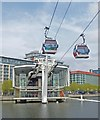 TQ4080 : Cable car station, Royal Victoria Docks by Julian Osley