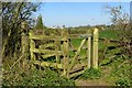 SP7327 : Kissing gate on the footpath by Steve Daniels