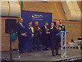 SZ1293 : Littledown: the Bournemouth East election result is declared by Chris Downer
