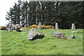 NJ9547 : Aikey Brae Recumbent Stone Circle (7) by Anne Burgess