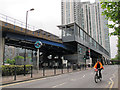 TQ3779 : South Quay DLR station by Stephen Craven