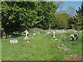 SU9072 : St Mary's graveyard, Winkfield by Alan Hunt