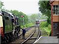 SO7486 : Token exchange (1) at Hampton Loade Station, Shropshire : Week 22