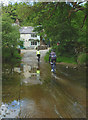 NY6815 : Cycling over the ford at Rutter Mill by Karl and Ali