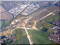 TL0325 : Roadworks for a link to the M1 from the west by M J Richardson