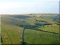 TQ3010 : Aerial view towards Chattri war memorial by Robin Webster