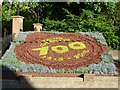 SP9211 : Tring - 700th anniversary of charter - flower bed by Rob Farrow