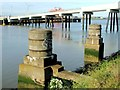 TQ4980 : Remains of a Jetty, Crossness by Chris Whippet