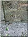 SJ8210 : OS benchmark - Weston Park eastern entrance by Richard Law