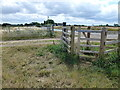 TL0794 : Footpath gate near Lyveden Farm by Richard Humphrey
