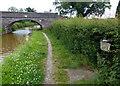 SJ7858 : Trent & Mersey Canal Milepost near Hassall Green by Mat Fascione