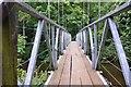 NT5640 : Footbridge over the Leader Water, Carolside : Week 30