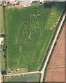 TA1118 : Thornton Abbey maze: aerial 2015 : Week 32