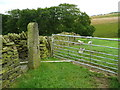SE0322 : Gate and redundant stile on Sowerby Bridge FP100, Link A) by Humphrey Bolton