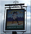 TL1841 : Sign for the Wrestlers pub, Langford by JThomas