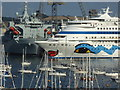 SW8132 : The cruise ship 'AIDAcara' in Falmouth harbour : Week 32