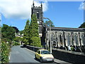 SD9827 : Hebden Bridge Parish Church from Church Lane by Colin Pyle
