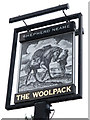 TQ2559 : The Woolpack sign by Oast House Archive
