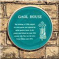 Photo of Gaol House green plaque