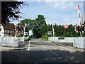 SP9336 : Level crossing on Salford Road by JThomas