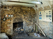 NH7763 : Interior of the Bothy, Eathie Fishing Station by Julian Paren