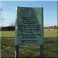 SP1096 : Information for Model Flyers, Sutton Park by Robin Stott