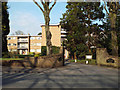 SP1198 : Beechcroft Court flats and entrance, Four Oaks Road, Four Oaks by Robin Stott