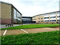 SE0422 : Ryburn Valley High School from Sowerby Bridge FP99 by Humphrey Bolton